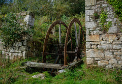Waterwheel, Wheal Alfred China Stone Mill, Tregargus (Rogpow) Tags: cornwall chinaclay industrial ststephen tregargusvalley abandoned industry overgrown decay ruin disused derelict dilapidated industrialarchaeology industrialhistory chinastone whealalfred mill waterwheel fujixpro2 chinastonemill
