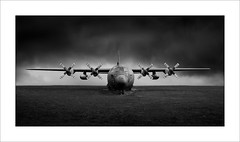 Lockheed Hercules C130K Mk3 (tkimages2011) Tags: lockhead hercules c130k aeroplane aircraft sky ground wings propellor dark drama dramatic moody mono monochrome bw grass engine turboprop transporter raf cosford