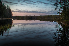 Late october II (mabuli90) Tags: finland lake water sunset longexposure nature landscape autumn fall clouds reflection tree forest
