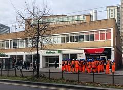 Wait rows at Waitrose (Steve Nimmons | Author) Tags: croydon london street streetphotography streetscene waitrose workers