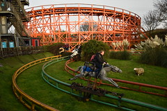 Steeplechase and Nickelodeon Streak (CoasterMadMatt) Tags: blackpoolpleasurebeach2019 pleasurebeachblackpool2019 blackpoolpleasurebeach pleasurebeachblackpool blackpool pleasure beach 2019season amusementpark themepark fairground amusement theme park parks amusementparksinengland englishamusementparks blackpoolattractions attractionsinblackpool steeplechase steeple chase horsecoaster nickelodeonstreak nickelodeon streak woodencoaster ride rides rollercoasters rollercoaster roller coasters coaster blackpoolsrollercoasters rollercoastersinblackpool englishrollercoasters rollercoastersinengland rollercoasterriders rollercoastertrain rider riders train trains southshore fyldecoast fylde coast lancashire lancs northwestengland northwest england britain greatbritain gb unitedkingdom uk europe november2019 autumn2019 november autumn 2019 coastermadmattphotography coastermadmatt photography photographs photos nikond3500
