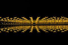"19110310 (felipe bosolito) Tags: lwlmuseum münster art reflection night light minimalism simple ""silberne frequenz"" ottopiene gold black fuji xpro2 xf1655 velvia"