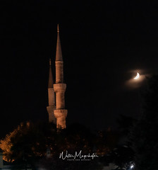 Istanbul - Oriental Moon over Sultan Ahmed (wmed) Tags: istanbul sultanahmed moon mond moschee