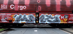 Graffiti on Freights (wojofoto) Tags: amsterdam nederland netherland holland freighttraingraffiti freighttrain fr8 freights cargotrain vrachttrein güterzug graffiti streetart wojofoto wolfgangjosten rum kmt