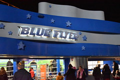 Blue Flyer's Station (CoasterMadMatt) Tags: blackpoolpleasurebeach2019 pleasurebeachblackpool2019 blackpoolpleasurebeach pleasurebeachblackpool blackpool pleasure beach 2019season amusementpark themepark fairground amusement theme park parks amusementparksinengland englishamusementparks blackpoolattractions attractionsinblackpool blueflyer blue flyer woodencoaster nickelodeonland nickelodeon land ride rides latenightriding novemberlatenightriding stationbuilding illumination illuminated litup floodlit inthedark atnight southshore fyldecoast fylde coast lancashire lancs northwestengland northwest england britain greatbritain gb unitedkingdom uk europe november2019 autumn2019 november autumn 2019 coastermadmattphotography coastermadmatt photography photographs photos nikond3500