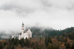 Neuschwanstein Castle (Bastian.K) Tags: neuschwanstein castle schloss hohenschwangau schwangau bayern bavaria cloud clouds cloudy fog nebel märchen märchenschloss mystisch mythical mythic