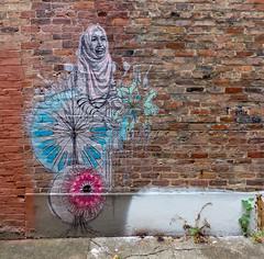 Alley Art (J Wells S) Tags: alleyart wallart publicart mural streetart bricks urban urbanart findlaymarket overtherhine otr cincinnati ohio blinkcincinnati