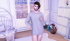 Sweater Weather (EnviouSLAY) Tags: sweater weather snow winter cold livingroomscene livingroom living room scene secondlifefashion secondlifephotography white oversized loose warm brunette modulus noche naked newreleases new releases lelutka bento andrea belleza jake fameshed monthlyevent monthlyfair monthlyfashion monthly event fair fashion pale male gay lgbt blogger secondlife second life photography
