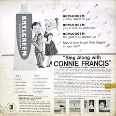 Brylcreem Presents Sing Along With Connie Francis - Back Cover (epiclectic) Tags: 1961 conniefrancis backcover epiclectic vintage vinyl record album cover art retro music sleeve collection lp epiclecticcom