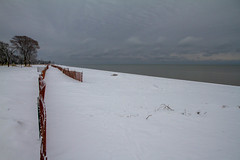 Snow on the Beach (Lester Public Library) Tags: beach beaches tworiverswisconsin tworivers neshotahbeach neshotah neshotahpark snow wisconsin greatlakes lakemichigan lake water lesterpubliclibrarytworiverswisconsin readdiscoverconnectenrich