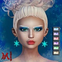 MOEKO Frostelle Earrings (MoekoTatekana) Tags: hunt enchantment enchantmentevent originalmesh prize secondlife moekotatekana moeko snowqueen snow frost snowflake