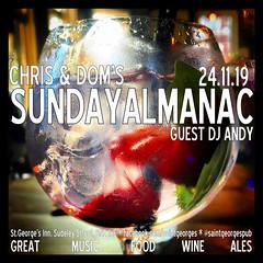 diary #2477: Sunday Almanac November 24th, 2019
