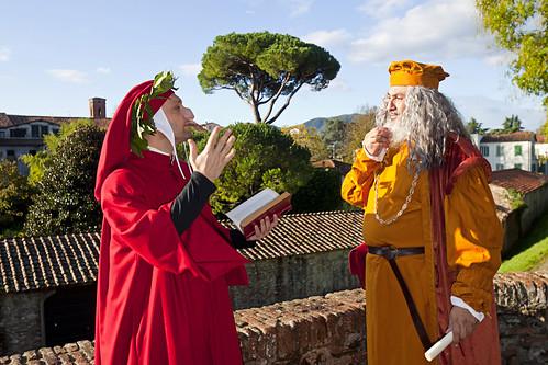 Della serie: i dialoghi impossibili, Dante e Leonardo discorrono sui massimi sistemi, 2. Lucca Comics and Games 2019