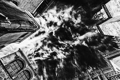 Gothic sky... (JM@MC) Tags: sky andalousia spain blackandwhite noiretblanc cloud nuage church eglise