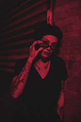 Paola (Braulio Lam) Tags: canon canonphotography canon6d nikkor nikonais nikonlens sigmaphoto sigmalens 20mm 50mm fastlens primelens nightphotography photoshoot photography portrait model red neonlights emmanuellubezki lowlight november