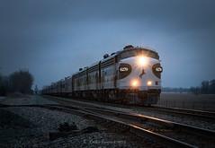 Látom (Wheelnrail) Tags: ns norfolk southern emd f9 f unit sandusky district sunset winter locomotive executive fleet loco passenger ohio oh