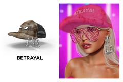 Prynson Hat & Earrings @ THE GALLERIA (Rhuigi Bourne) Tags: betrayal betrayalsl prynson unisex fw19 streetwear fashion prints runway capsule collection menswear mens men womenswear womens women fur winter warm