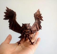 Blakiston's Fish Owl - Katsuta Kyohei (GGIamBatman) Tags: blakistons fish owl katsuta kyohei origami papiroflexia papel buho