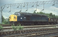 97406 South of Crewe Station (Arthur Stopow) Tags: class 40 97 974 br blue reinstated ee english electric type 4 335 40135