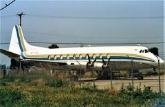 Chino Viscount (Gerry Rudman) Tags: vickers viscount v798d n555sl chino california capital airlines n7471 maam reading pennsylvania bournemouth hurn hampshire 1957