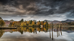 Derwent Isle Sticks (petebristo) Tags: lakedistrict lakes derwentwater keswick cumbria reflections waterscape