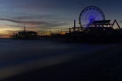 Twilight (remiklitsch) Tags: twilight santamonica pier remiklitsch theglasgowgalleryofphotography night exhibition landscape panorama panoramic longexposure ferriswheel blue circle