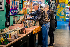 Analog World (rg69olds) Tags: 11022019 40mm 5dmk4 canoneos5dmarkiv nebraska sigma40mmf14artdghsm books candy canon downtown oldmarket omaha sigma hollywoodcandy records analog people shopping couple 40mmf14dghsm|a
