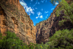 Zion National Park (donnieking1811) Tags: utah springdale zionnationalpark zion nationalpark canyon mountains cliffs trees outdoors landscape sky clouds blue hdr canon 60d lightroom photomatixpro
