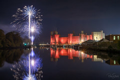 Caernarfon Fireworks 2019 (Ben Stacey.) Tags: nightphotography sea sky reflection water wales nightscape fireworks bonfirenight gwynedd caernarfoncastle benstacey castle northwales
