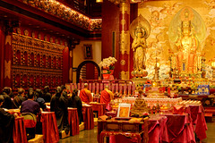 The Temple (Leo Teles) Tags: buddha temple relic singapore buddism contrast colours gold golden religion