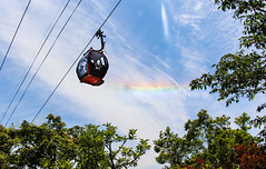 Cable Car at Nunobiki Herb Garden (shiruichua) Tags: japan kobe chuo ward nunobiki herb garden cable car rainbow sky view nature travel adventure canont5i 18135mm lens 700d f3556