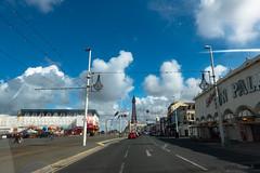 Blackpool Tower (Jocey K) Tags: triptoukanderoupe2019 june uk england blackpool cars pier blackpooltower hotels clouds road sky buildings blackpoolilluminations vehicle