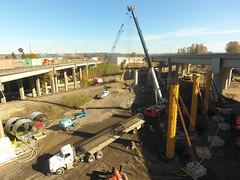 I-5 bridge pier work in Tacoma (WSDOT) Tags: cm bridgeconstruction tacoma interstate5 puyallupriver