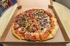 Costco Pizza (SCSQ4) Tags: california celebration combo costcopizza favorite favoritefood favoritepicture food fountainvalley halfcombo halfveggies keyboardconcepts lunch lunchtogo pizza work zeds1stworkanniversary
