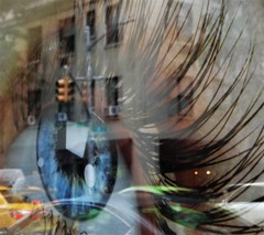 New York State of Mind (pdajsmith) Tags: eye traffic nyc intersection cars taxi cab dream city reflection abstract