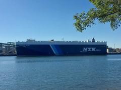 Mykonos (jelpics) Tags: mykonos nykline merchantship cargoship carcarrier commercialship roro boat bos boston bostonharbor bostonma harbor massport massachusetts ocean port sea ship vessel