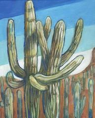 arizona embrace (EllenJo) Tags: art saguaro arizona az cactus painting 8x10 acryliconcanvas gift ellenjo 2019 scottsdale paradisevalley mountainshadowsresort november2019 wedding dahlbergwedding cousins family pentaxks1