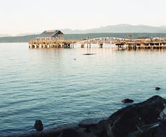 Port Townsend covered pier (Kent C.) Tags: mamiyarb67pros film filmphotography kodakfilm kodakportra160 120film