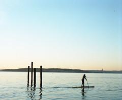 Morning paddle (Kent C.) Tags: mamiyarb67pros film filmphotography kodakfilm kodakportra160 120film