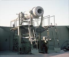 Fort Casey disappearing gun high (Kent C.) Tags: mamiyarb67pros film filmphotography kodakfilm kodakportra160 120film