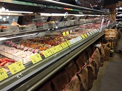 Humanely-treated, non-altered, farm-raised (on a real farm) meats, but ended up as someone's dinner nonetheless (l_dawg2000) Tags: 1960s 2014remodel fromermontesigrocery groceries grocerystore healthfood memphis poplarave remodel retail shelbycounty tennessee tn wholefoods unitedstates