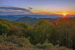 Blue Ridge Parkway Sunset (mevans4272) Tags: trees mountains sunset autumn nc landscape