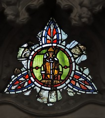 Photo of Medieval stained glass, Dorchester Abbey, Dorchester-on-Thames, Oxfordshire, England