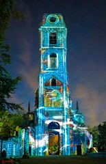 Illuminations - 7667 (✵ΨᗩSᗰIᘉᗴ HᗴᘉS✵81 000 000 THXS) Tags: illumination nuit night tower abbaye pairidaiza belgium europa aaa namuroise look photo friends be yasminehens interest eu fr party greatphotographers lanamuroise flickering sony sonyilce7s