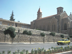 Church of Saint Francis of Assisi (Lumad21) Tags: aleppo syria nothernsyria middleeast church oldtaxi taxi architecture saintfrancis assisi catholic