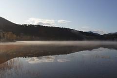 Hovdevatnet -|- Misty October lake (erlingsi) Tags: october lake hovdevatn ørsta sunnmøre norge europe vatn freshwater mist dis reflection