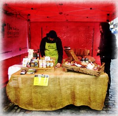 'Iberia Delights ' Meats, cheeses etc .. (John(cardwellpix)) Tags: once monthly farmers food producers high street market november ~ guildford surrey iberiadelightsmeats cheesesetc