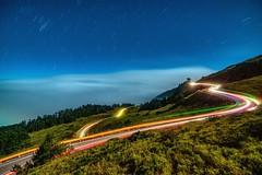 合歡山~月光雲海車軌~ Moonlight clouds (Shang-fu Dai) Tags: 台灣 taiwan nantou 南投 合歡山 hehuanmt 車軌 nikon d800e formosa nightscene 雲海 happyplanet asiafavorites