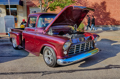 Sitting Fine (kendoman26) Tags: hdr nikhdrefexpro2 htt happytruckthursday october2019morrisilcruisenight morrisillinoiscruisenight sonyalpha sonyphotographing sonya6000 selp1650 chevypickup 1955chevypickup
