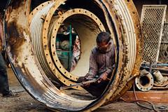 Scrapper Cutting Metal, Chittagong Bangladesh (AdamCohn) Tags: adam cohn bangladesh chittagong acetylene acetylenetorch market marketplace salvage salvaged scrap scrapper scrappers scrapping shipbreaking streetphotographer streetphotography wwwadamcohncom adamcohn